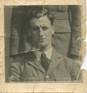 Foto Walter Petch achtergelaten bij Familie De Wilde