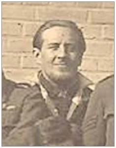 Sgt. Geoffrey C. Carter at Stalag Luft camp 9c